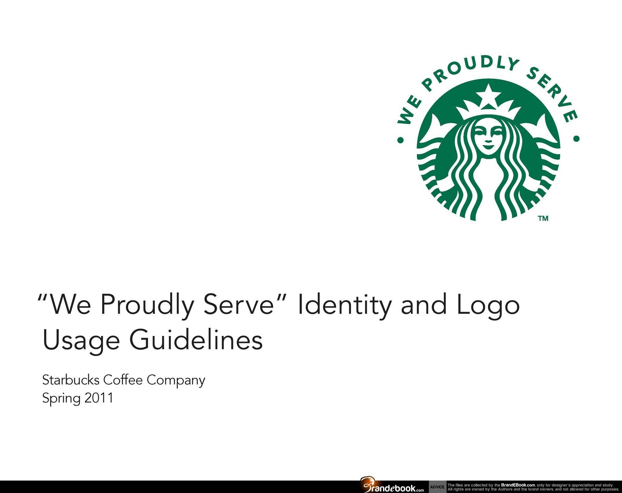 Starbucks coffee – branding style guides.
