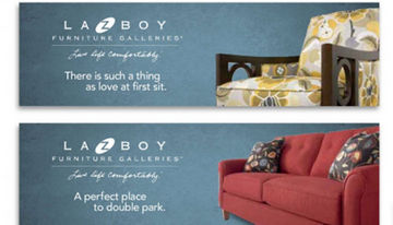 LA Z BOY Furniture Galleries corporate brand guidelines
