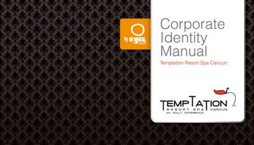 Temptation Resort Spa Cancun corporate identity manual