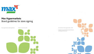 Max Hypermarkets brand guidelines for store signing